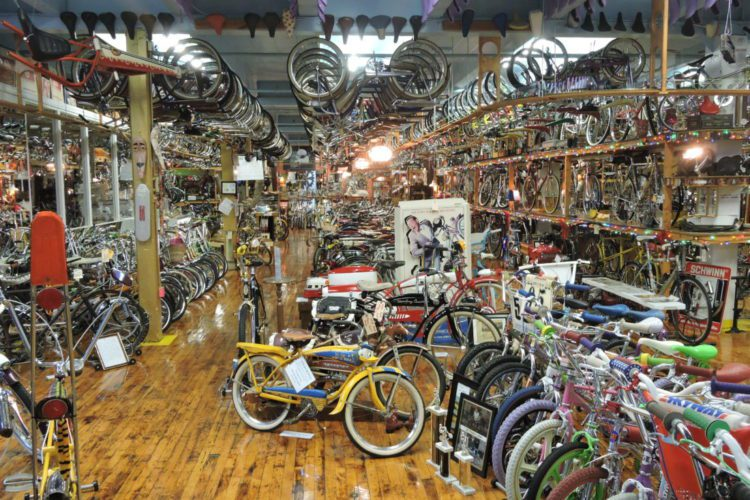 Photo Provided THOUSANDS of bicycles stand and hang at Bicycle Heaven, a museum in Pittsburgh dedicated to bicycles.