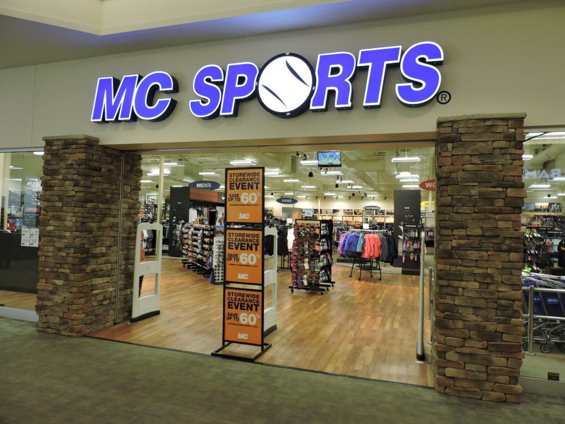 T-L Photo/JANELL HUNTER MC Sports has declared bankruptcy in Grand Rapids, Mich., where the chain retailer is headquartered. It is unclear what the fate of the Ohio Valley Mall MC Sports store in St. Clairsville will be.