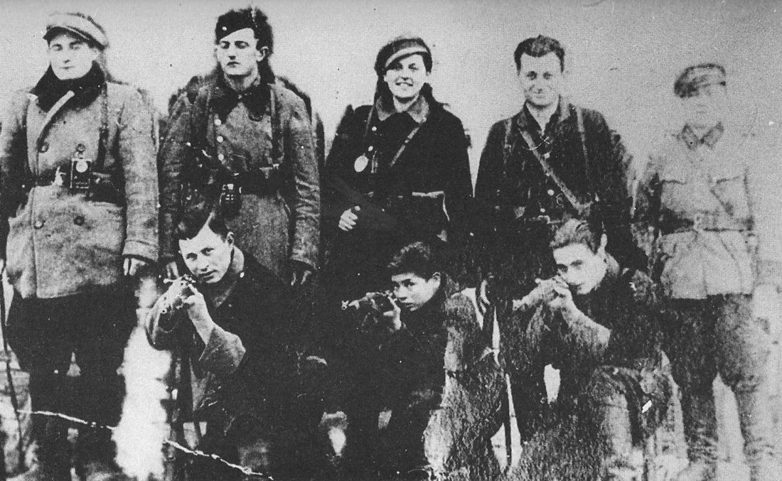 Photo Provided  Bielski-Partisan-Group Members of the Bielski Partisan Unit in Nalibocka forest, 1943. Aron Bieski is front row, center.