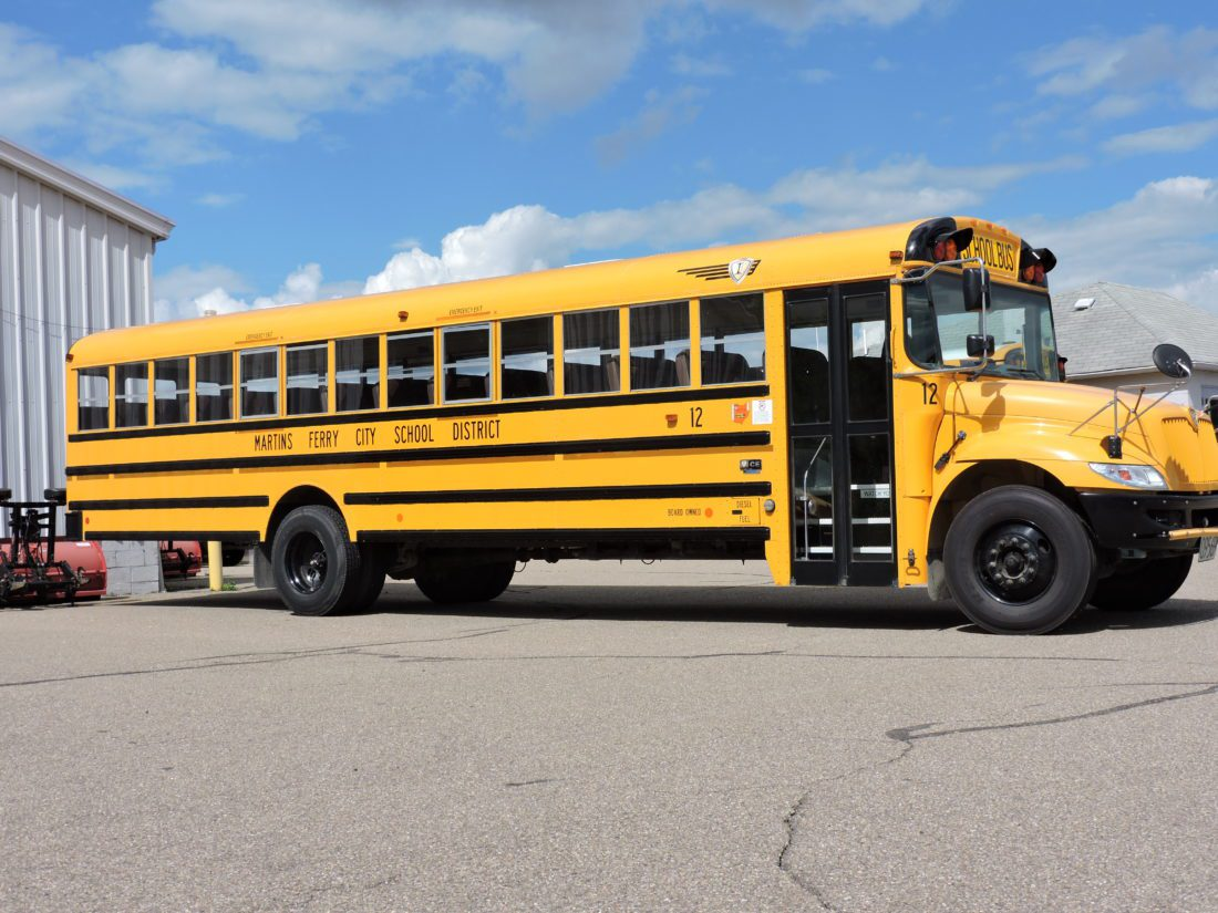The Martins Ferry City School District is one of five districts participating in a shared transportation services feasibility study that will be conducted by the Ohio Auditor's Office to help cut costs to school districts across the state.  T-L Photo/ JANELL HUNTER
