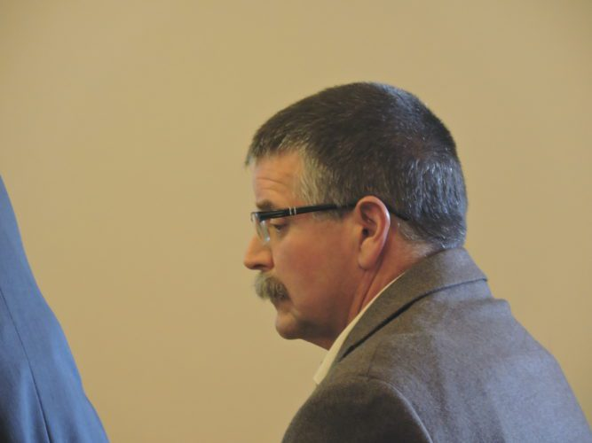 T-L Photo/  ROBERT A. DEFRANK  Michael Chedester is sentenced for shooting and killing a neighbor's two dogs last year.