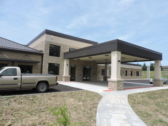 Officials say the long-awaited new Belmont County Senior Services Center is close to completion, with electrical concerns and a maintenance agreement still being worked out and an occupancy certificate from the health department still needed.     T-L Photo/ ROBERT A. DEFRANK
