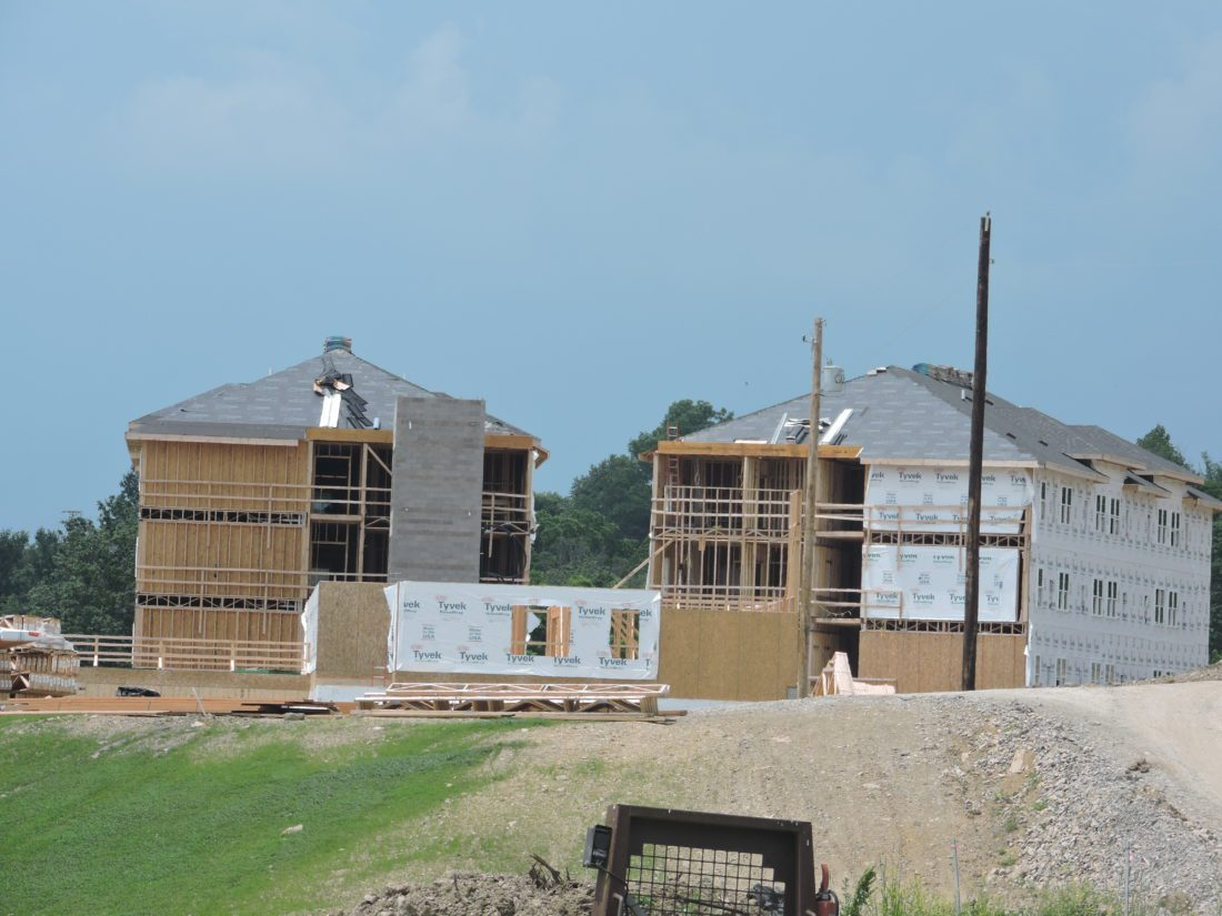 The wings of the incoming senior living facility are taking shape.