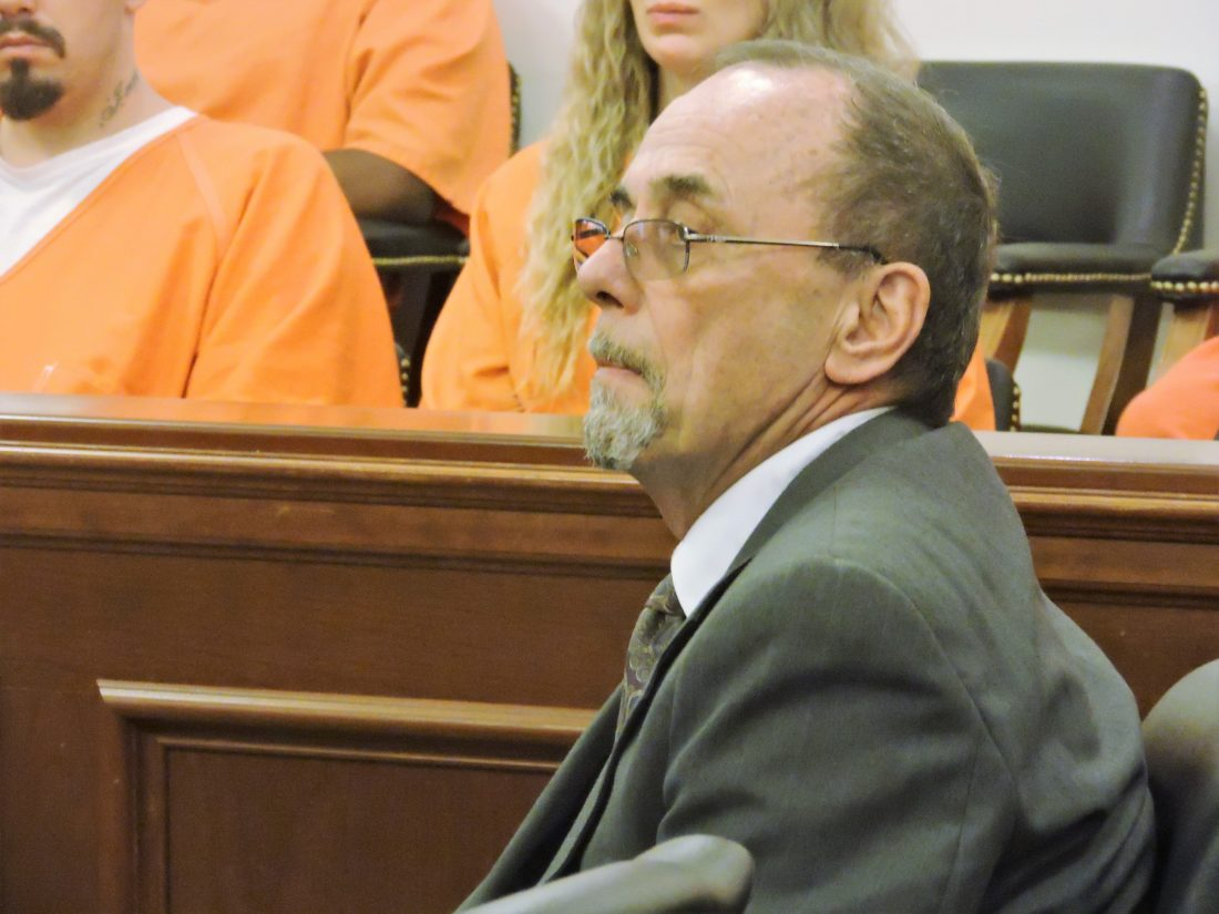 T-L Photo/ ROBERT A. DEFRANK/ Dr. Rodney Curtis appears in Belmont County Common Pleas Court. The St. Clairsville urologist is accused of drug trafficking and drug possession.