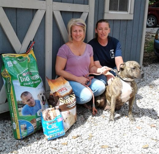 A pack-the-truck supply drive to benefit the Belmont County Animal Shelter will be held Saturday at Rural King. Dog Warden Lisa Williams, and staff member Nancy Zielinski with one of their lovable adoptable dogs Britty, a three year old female brindled mix.