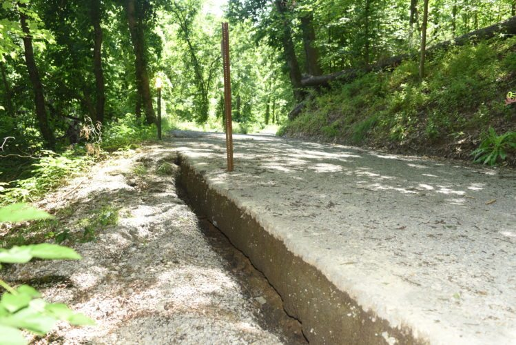 Photo provided The Richland Township trustees are moving forward to repair a slip on Ebbert Road.  Ebbert Road slip repairs to start