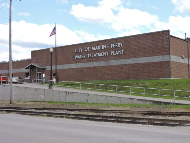 SALES OF potable water to tanker trucks have doubled since last year at Martins Ferry's Water Treatment Plant, shown here.      T-L Photo/ SHELLEY HANSON