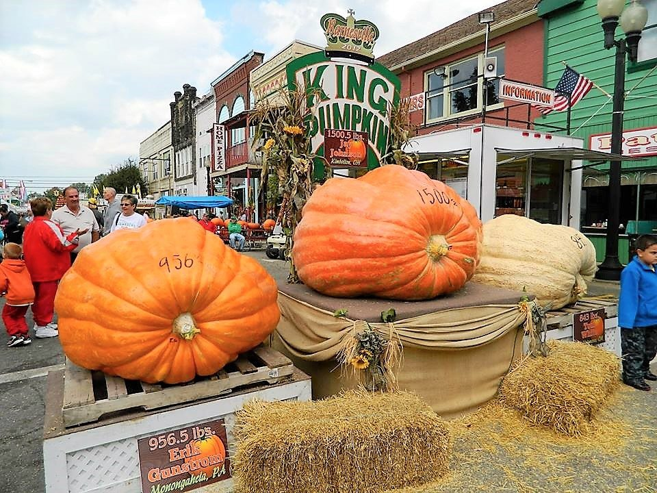A PAST King Pumpkin is shown in downtown Barnesville.