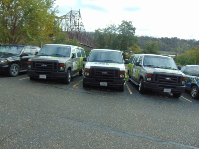Photo provided AMONG THE vehicles that were vandalized are these Disabled American Veteran vans.