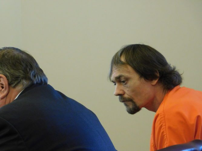 T-L Photo/ROBERT A. DEFRANK James Dean McMasters, a co-defendant in an alleged Bellaire home invasion that resulted in the shooting death of Joshua Gorayeb, appeared in court for an information sharing conference Monday. His trial remains set for November.