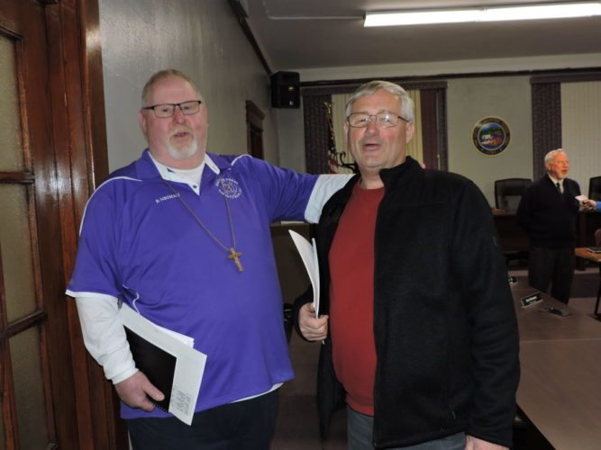 File Photo/SHELLEY HANSON MARTINS FERRY Councilman Ben Neiman, left, choose not to seek re-election, citing health issues. Voters re-elected Councilman James Schramm, right, as an at-large council member, according to preliminary results.
