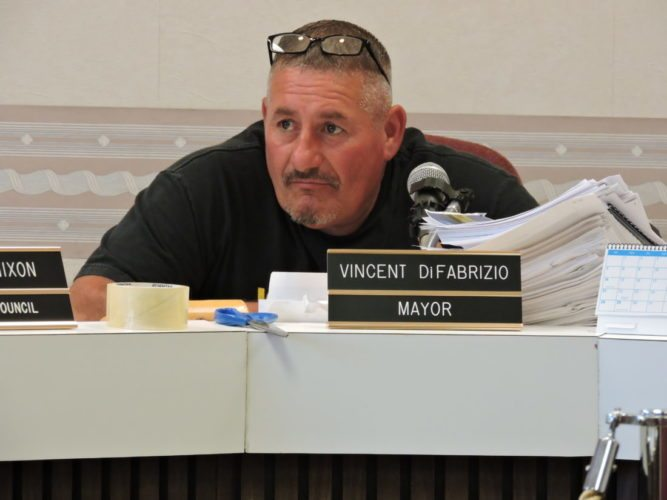 File Photo/JENNIFER COMPSTON STROUGH BELLAIRE MAYOR Vince DiFabrizio participates in a past work session.