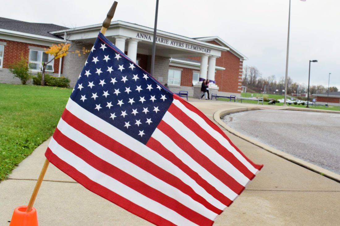 Photo/SCOTTMCCLOSKEY VOTERSEXITa polling place at Anna Marie Ayers Elementary School in Martins Ferry on Election Day last Tuesday. Eastern Ohio saw average voter turnout with roughly 35 percent participation.