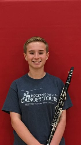 Photo provided Union Local High School student Elsa Bretz will play her clarinet in the Macy's Thanksgiving Day Parade as part of Macy's Great American Marching Band on Thursday in New York City.