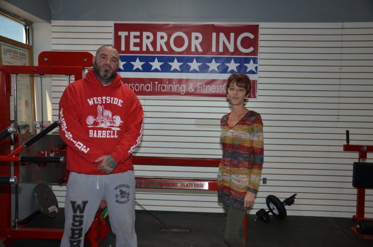 T-L Photo/KIM NORTH TRAVIS CLARK, left, and Karen Fisher form Team Terror inside Terror Inc. Training Center in Morristown. They will work with individuals, especially children with developmental disabilities, discipline issues or autism. Fitness, nutrition and other ways to live a healthy life will be taught, as will skills in boxing and weight training.
