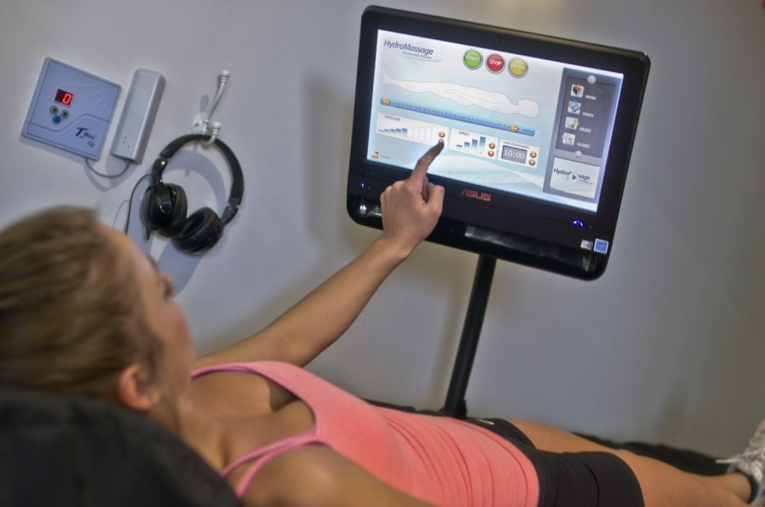 Photo Provided HydroMassage is now available at the Howard Long Wellness Center near Wheeling Hospital.