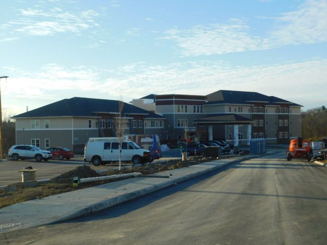 T-L Photo/ROBERT A. DEFRANK The Senior Suites takes shape at St. Clair Commons near the Ohio Valley Plaza. The new facilities are expected to open in February. This area and the new Belmont County Senior Services senior center are among this year's developments related to older individuals.