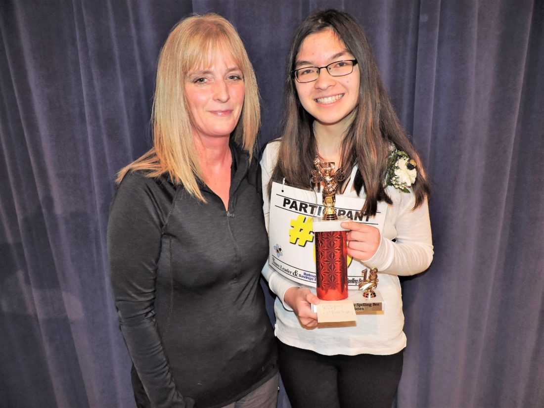 HCS spelling bee champion heads to county competition