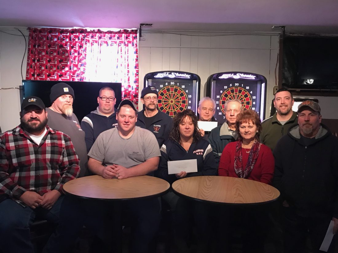 Photo Provided Members of the Lafferty Moose Lodge include residents who work with the fire department and community park. Pictured, from left, are Brad Applegarth, Dugan Dye, Lori Mann, Suzie Pubal, Darrell Jendrusik, Tim Mann, Preston Eberhart, Bob Eberhart, Larry Zalesny, Jim Garrett and Aaron Parrish.
