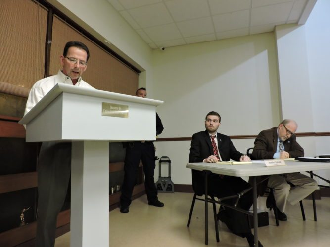 Joel Braido, area businessman, spearheaded popular criticism of Bethesda Police Chief Eric Smith's performance at Thursday's village council meeting.