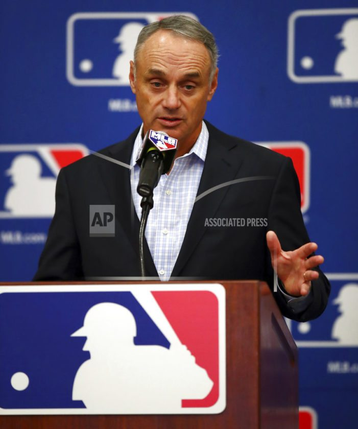 House passes sports betting bill; Major League Baseball commissioner to urge Justice to veto