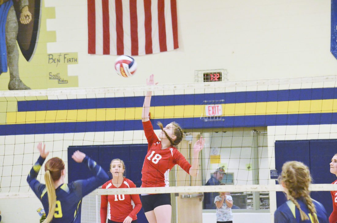 backyard brawl ike volleyball edges youngsville in 4 sets news