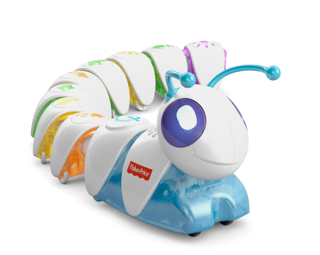 """AP PHOTO This photo provided by Mattel shows Fisher-Price's Think & Learn Code-a-Pillar, which introduces basic coding concepts by letting preschoolers assemble segments that each tells the caterpillar to do something different, such as """"turn left"""" or """"play sound."""""""