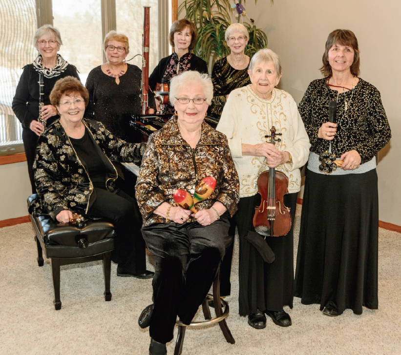 "CONTRIBUTED PHOTO Pictured above are members of Tuesday Musical Club who performed the 2016 Christmas Program call ""Christmas Spirit"" at its December meeting. From back left to right are: Karen Engesser, Cynthia Augspurger, Christine Norman, Kay Beach. In the front row are: Marilyn Spafford, Valois Brintnall, Marjorie Ehrhardt and Pat Kirner. The ensemble also performed the program for the First Presbyterian Church women and P.E.O. Chapters at the First United Methodist Church."