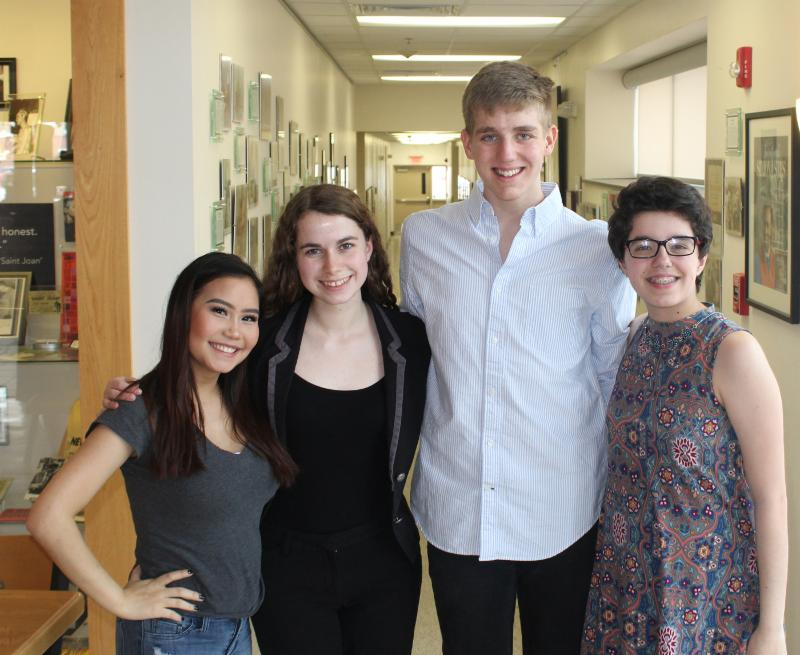 CONTRIBUTED PHOTO These Marshalltown High School students performed for the Starpha women's group at the Orpheum Theater on May 16. Pictured from left, are Ma Tway, Isabella Pedersen, Nick Cooper and Phoebe Osgood.