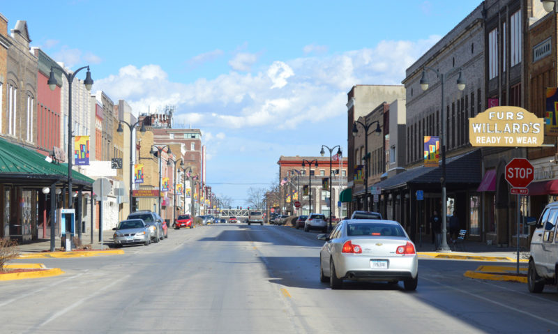 T-R FILE PHOTO A view looking east of Marshalltown's Main Street recently. Businesses and others occupying Main Street and side streets are key components of the Central Business District. The organization's staff and volunteers have been working since 2002 to enhance downtown through physical improvements, recruitment, events, and other initiatives according to promotional material.
