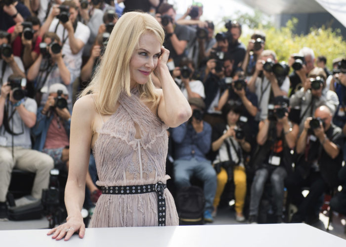 AP PHOTO Actress Nicole Kidman poses for photographers during the photo call for the film The Beguiled at the 70th international film festival, Cannes, southern France, Wednesday.