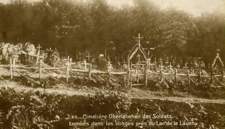 CONTRIBUTED PHOTO Loosely translated, the caption on the photo reads: Oberlauchen Cemetery of the Tomb. Soldiers in the Vosges near Lake Lauch.