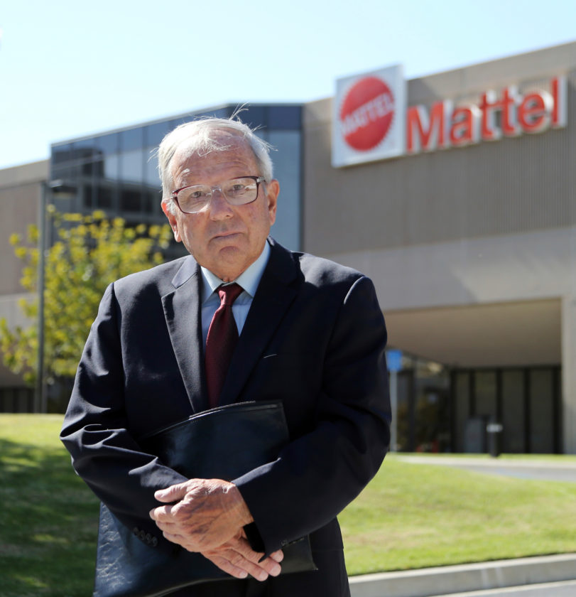 AP PHOTO This May 18 photo shows activist investor John Chevedden outside the Southern California headquarters of Mattel in El Segundo, Calif. One of his recent actions was to push Mattel to allow shareholders to put alternative board candidates on the company's ballot, which Mattel agreed to do.