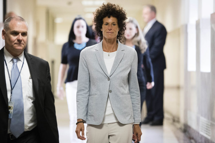 AP PHOTO Andrea Constand walks to the courtroom during Bill Cosby's sexual assault trial at the Montgomery County Courthouse in Norristown, Pa., Tuesday. Cosby is accused of drugging and sexually assaulting Constand at his home outside Philadelphia in 2004.