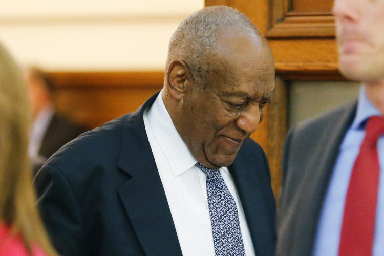 AP PHOTO Actor Bill Cosby walks out of the courtroom during a break in his sexual assault trial at the Montgomery County Courthouse in Norristown, Pa., Thursday.