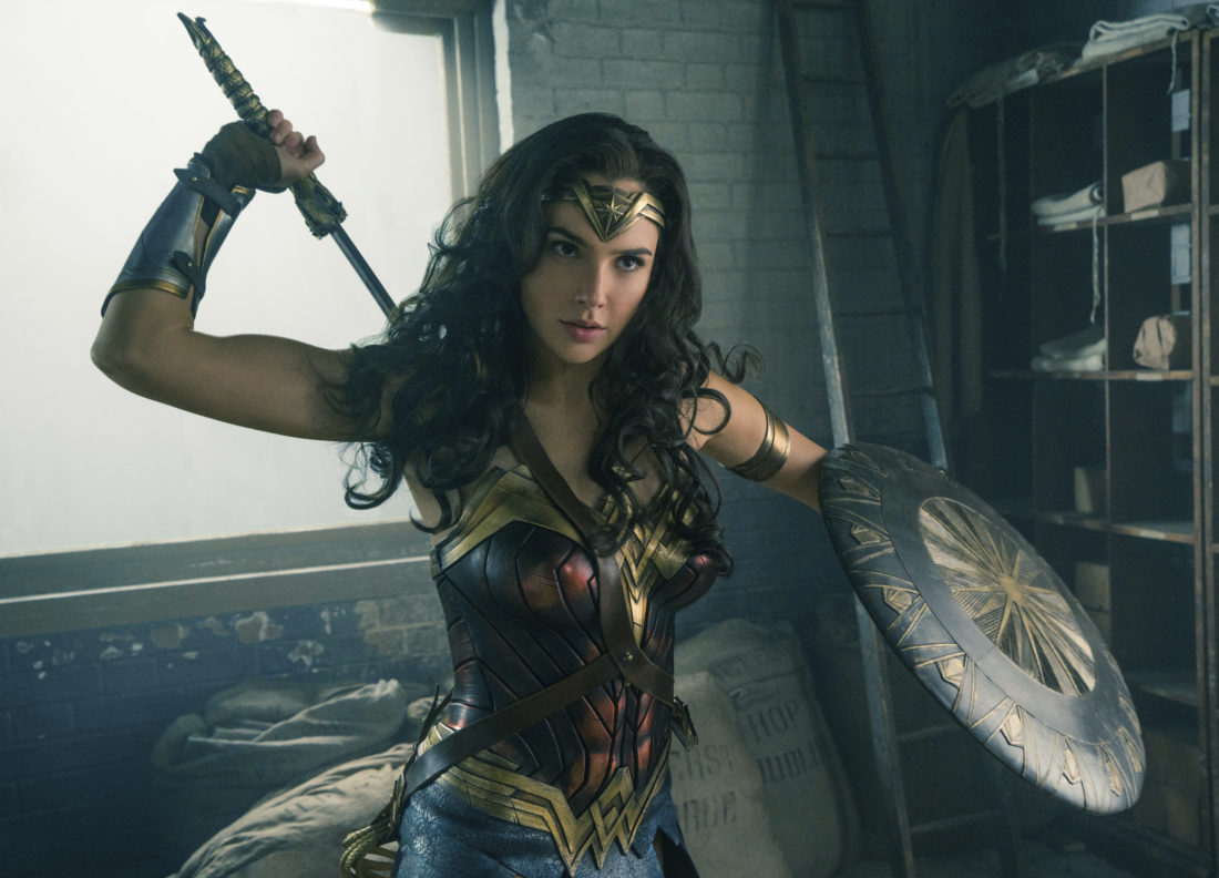 """This image released by Warner Bros. Entertainment shows Gal Gadot in a scene from """"Wonder Woman."""" """"Wonder Woman"""" wrapped up Tom Cruise's """"The Mummy"""" at the weekend box office, pulling in an estimated $57.2 million in North American theaters. (Clay Enos/Warner Bros. Entertainment via AP)"""
