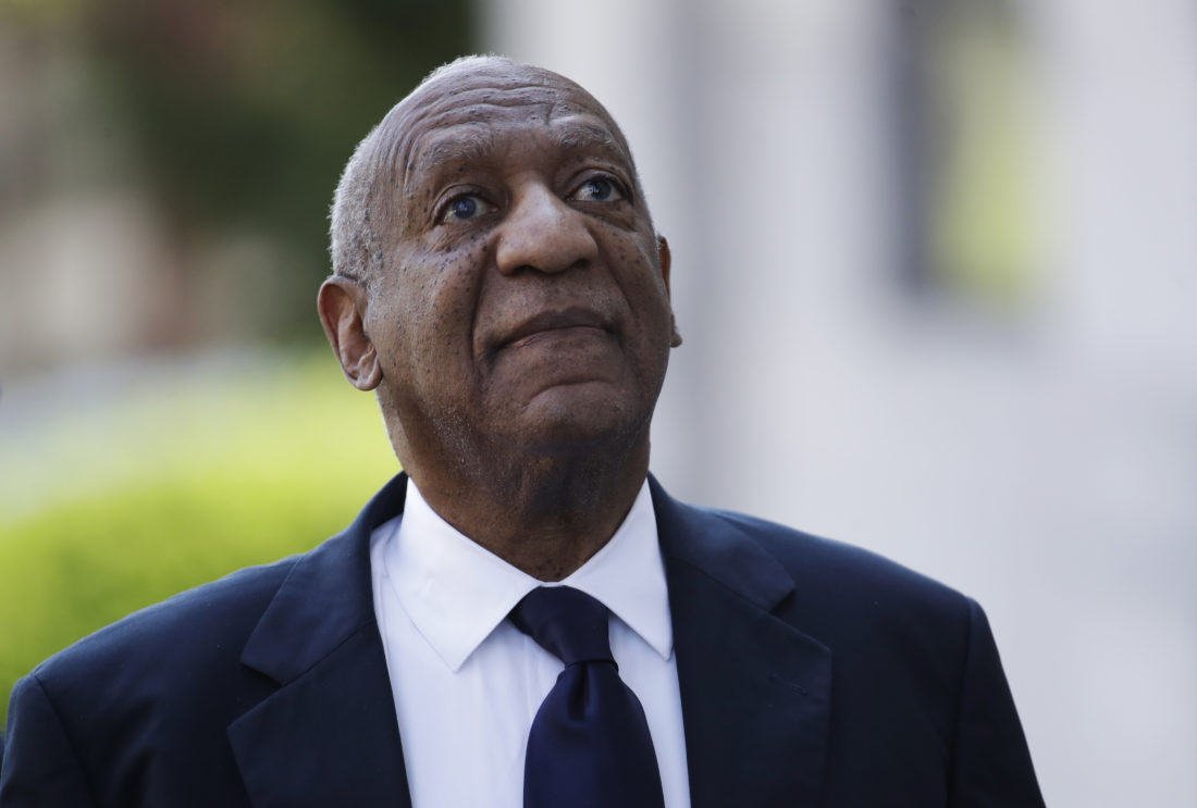 AP PHOTO Bill Cosby arrives for his sexual assault trial at the Montgomery County Courthouse in Norristown, Pa., Tuesday.