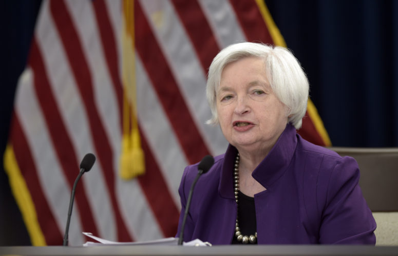 AP PHOTO Federal Reserve Chair Janet Yellen speaks in Washington, Wednesday, to announce the Federal Open Market Committee decision on interest rates following a two-day meeting. The Federal Reserve has raised its key interest rate for the third time in six months, providing its latest vote of confidence in a slow-growing but durable economy.