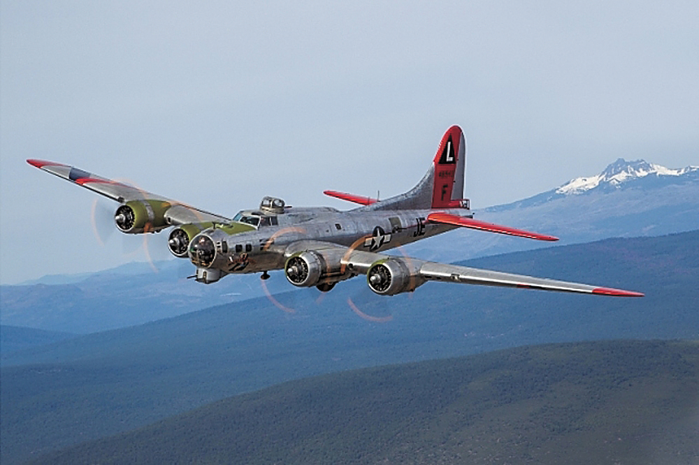 "CONTRIBUTED PHOTO The ""Madras Maiden"" World War II Boeing B-17 ""flying fortress"" bomber will be making a visit to Des Moines International Airport on June 25 and will be giving flying tours over the city."