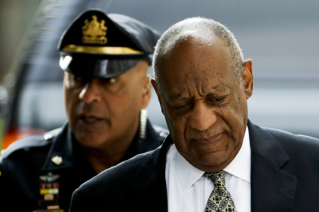 AP PHOTO Bill Cosby arrives at the Montgomery County Courthouse during his sexual assault trial, Thursday, in Norristown, Pa.