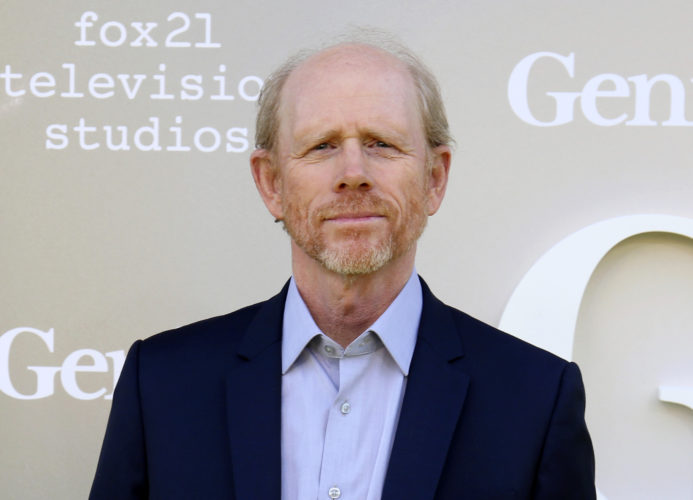 "AP PHOTO In this April 24, file photo, filmmaker Ron Howard arrives at the premiere of ""Genius"", in Los Angeles."