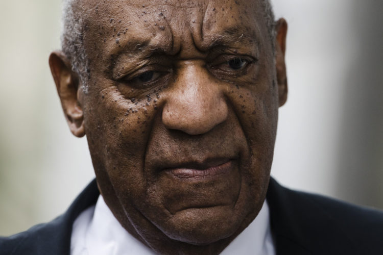 AP PHOTO In this June 17 file photo, Bill Cosby arrives for his sexual assault trial at the Montgomery County Courthouse in Norristown, Pa.