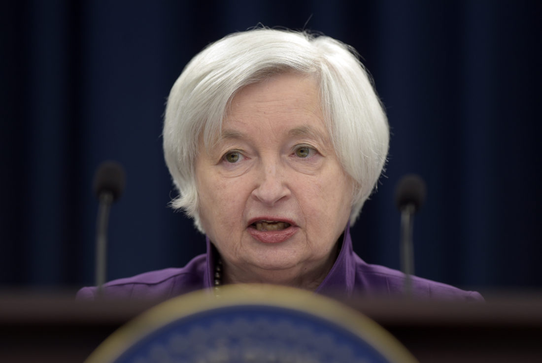 AP PHOTO In this June 14, file photo, Federal Reserve Chair Janet Yellen speaks in Washington, to announce the Federal Open Market Committee decision on interest rates following a two-day meeting.