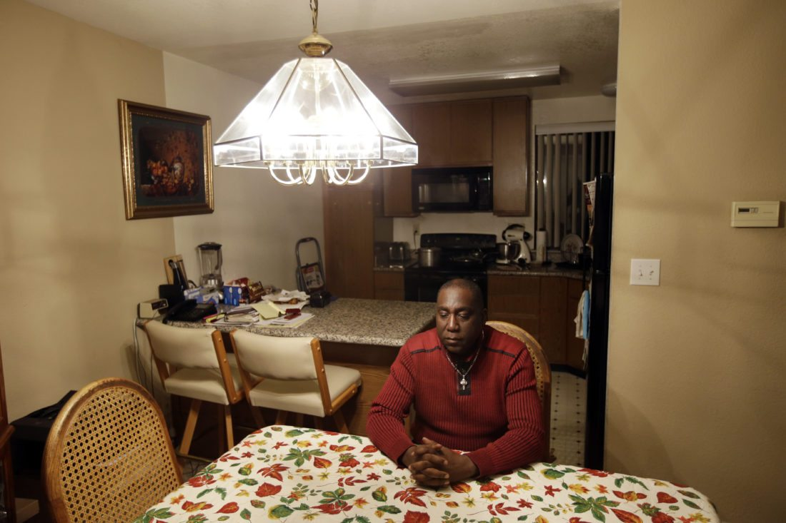 AP PHOTO In this Nov. 9, 2015, file photo, Pastor Yul Dorn poses for a portrait inside his home, where he was facing eviction due to foreclosure in San Francisco. Dorn and his wife expect to join the growing ranks of African-Americans who do not own their homes, a rate that was nearly 30 percentage points higher than that of whites in 2016, according to a report by Harvard University's Joint Center for Housing Studies.