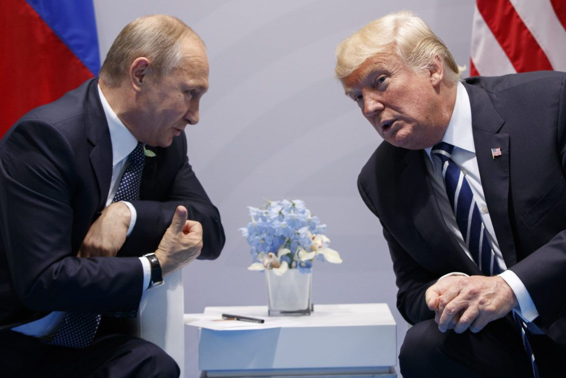 AP PHOTO In this July 7, file photo, President Donald Trump meets with Russian President Vladimir Putin at the G20 Summit in Hamburg, Germany. Trump had a second, previously undisclosed conversation with Putin at the summit it Germany.