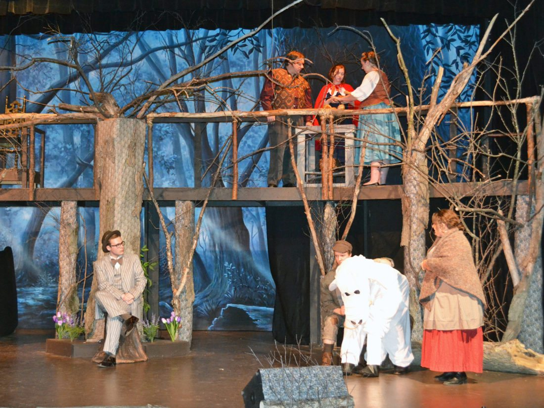"T-R PHOTO BY SARA JORDAN-HEINTZ The Marshalltown Community Theatre will present its rendition of ""Into the Woods"" with opening night this Friday, at the Martha-Ellen Tye Playhouse. The play is a musical with music and lyrics by Stephen Sondheim, based on the book by James Lapine."
