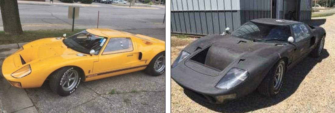 Contributed Photos This Rare Replica  Ford Gt Was Reported Stolen Earlier This Week But Authorities Found The Vehicle Painted Black And The Suspect