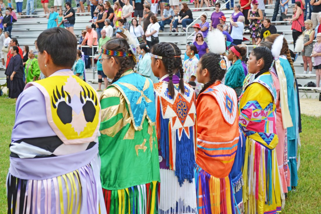 T-R FILE PHOTO The 103rd Annual Meskwaki Powwow will be held August 10-13, at the Powwow Grounds, located four miles west of Tama on Hwy E-49. Ceremonial dances will be held daily at 1 p.m. and 7 p.m. Vendors will be set up offering food, arts, crafts and jewelry.