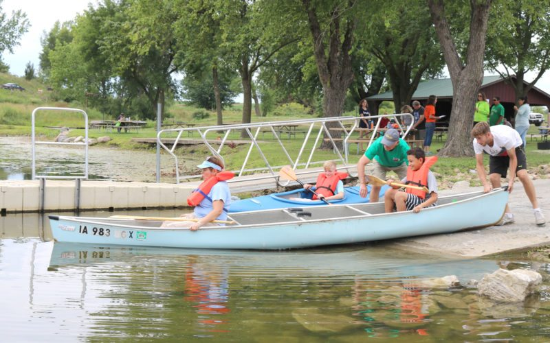 T-R PHOTO BY ADAM SODDERS It was a great day for fishing, kayaking, bag toss or just taking a stroll around Green Castle Recreation Area Sunday as the park's 40th anniversary was celebrated. Other activities included live music and stargazing, and one lucky county resident won a new kayak.