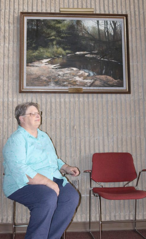 T-R PHOTO BY ADAM SODDERS A gardener and avid reader, Marshalltown School Board President Bea Niblock said stability on the board will be important going forward. The candidate said she wants to continue finding ways to increase student achievement and improve the district.